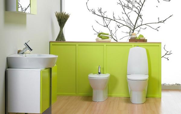 grünes-badezimmer-deko-pflanze- baumzweige
