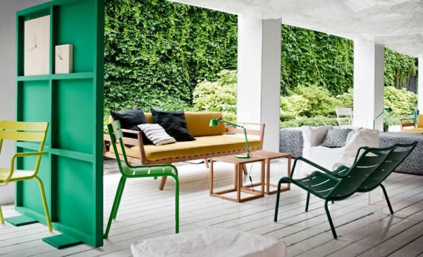 grünes-holz-zimmer-trennwand - terrassengestaltung