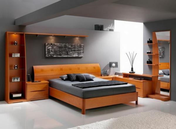 schlafzimmer : schlafzimmer grau orange schlafzimmer grau ... - Schlafzimmer Grau Holz