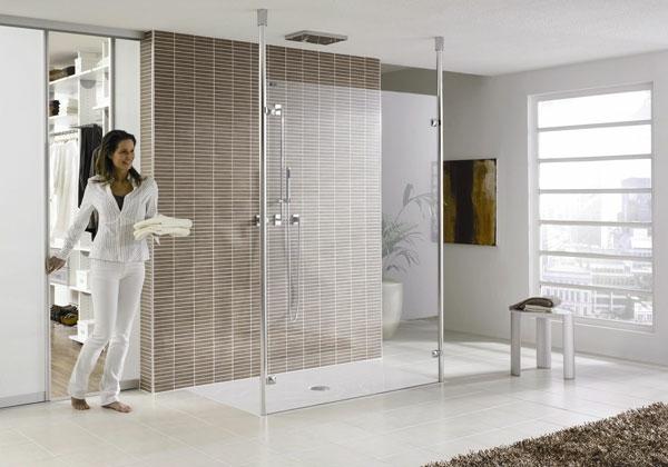 große-ebenerdige-dusche-einbauen- ultramoderne gestaltung