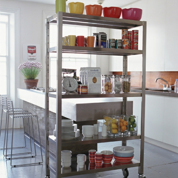 Drahtregale in der kuche praktisch und schon archzinenet for Küchen standregal