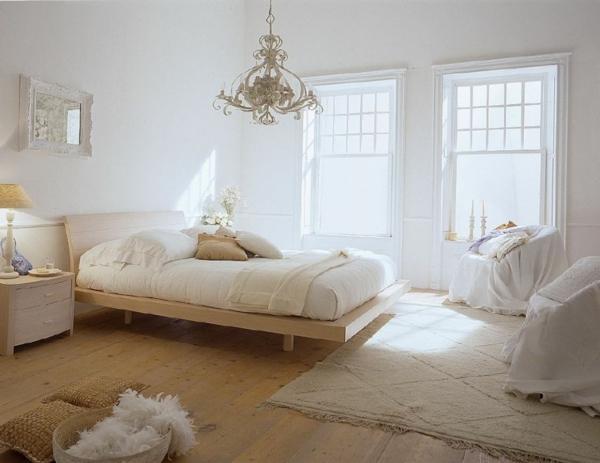 herrenschlafzimmer-in-weiß-und-ockra- moderne gestaltung