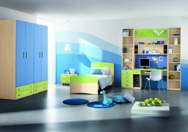 Kinder Schlafzimmer in himmelblau und hellblau.als Teil unseren Wandfarben Ideen