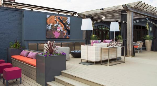 ideen-für-terrassengestaltung-bild-an-der-wand- ideen für terrassengestaltung