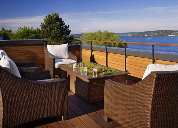ideen-für-terrassengestaltung-möbelset- elegante ausstattung