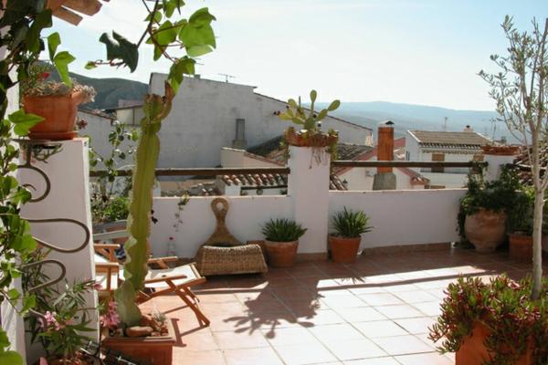 ideen-für-terrassengestaltung-sichtschutz-liegestuhl-dekorative-pflanzen- einfach und schön