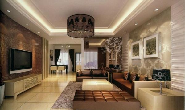 deckenleuchten für ein modernes wohnzimmer interieur