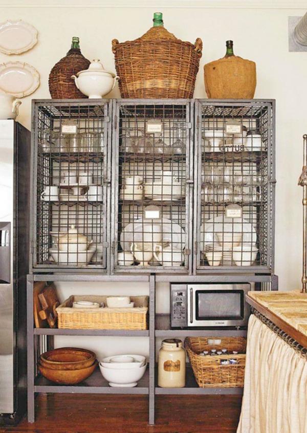drahtregale als eine super stauraum idee für die küche