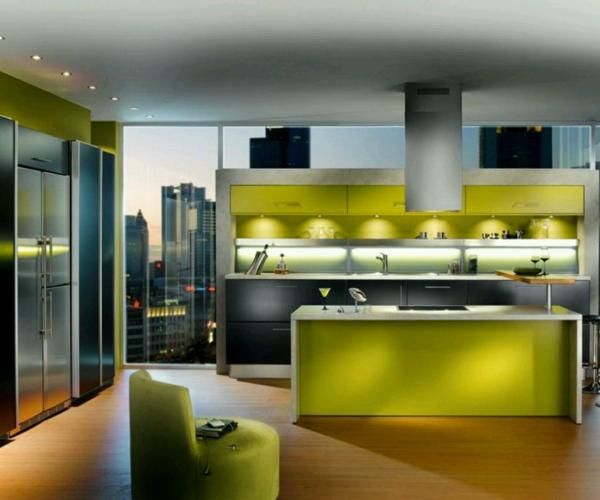 küche-mit-ultramodernen-gestaltung- und moderner beleuchnung