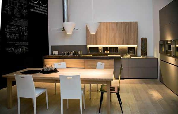 küche-modern-gestalten - kreidetafel an der wand