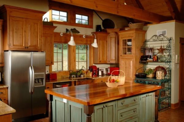 küchen-ideen- interessantes design mit einer kochinsel