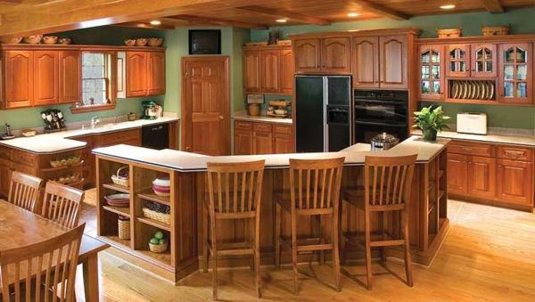 küchengestaltung-orange-nuancen - moderne innenarchitektur