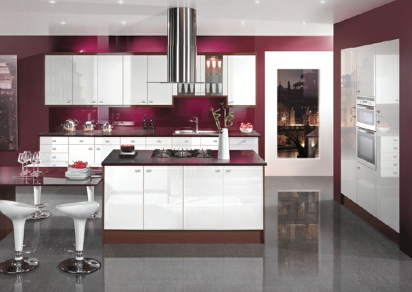 Red Grey Kitchen Ideas