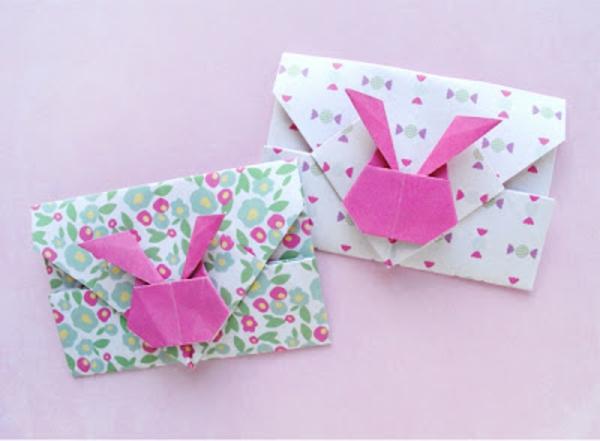 origami in grün rosig und weiß selber machen