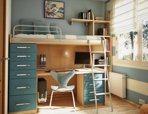 Kinderzimmer einrichtung 29 auff llige ideen for Jugendzimmer stockbett