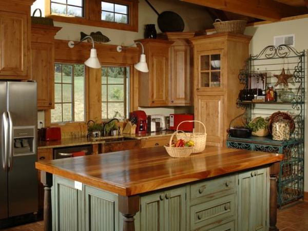Wohnzimmer und Kamin küche landhausstil modern : 26 verblu00fcffende Vorschlu00e4ge fu00fcr moderne Landhausku00fcchen