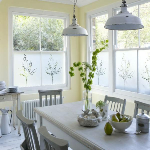 Dekoration Fur Große Fenster : esszimmer fenstern blumen figuren