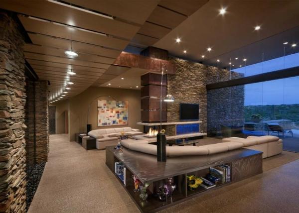 Luxus Wohnzimmer Mit Kamin ~ Raum Haus Mit Interessanten Ideen, Wohnzimmer  Design