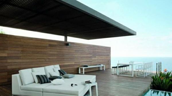 Überdachte Terrasse - 48 Wunderschöne Ideen - Archzine.net Terrassen Design Meer Bilder
