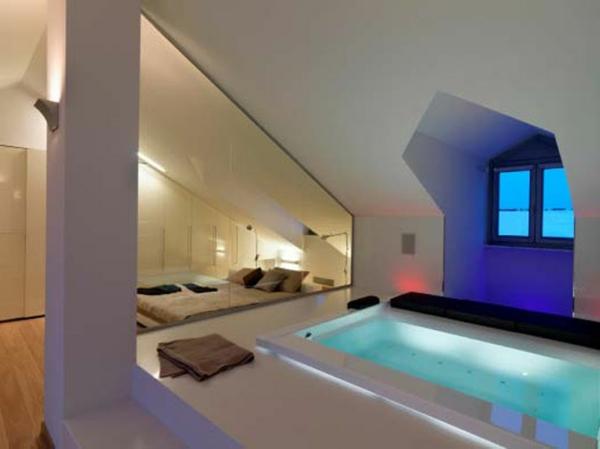 Dachwohnung einrichten 30 ideen zum inspirieren for Einrichtung badezimmer