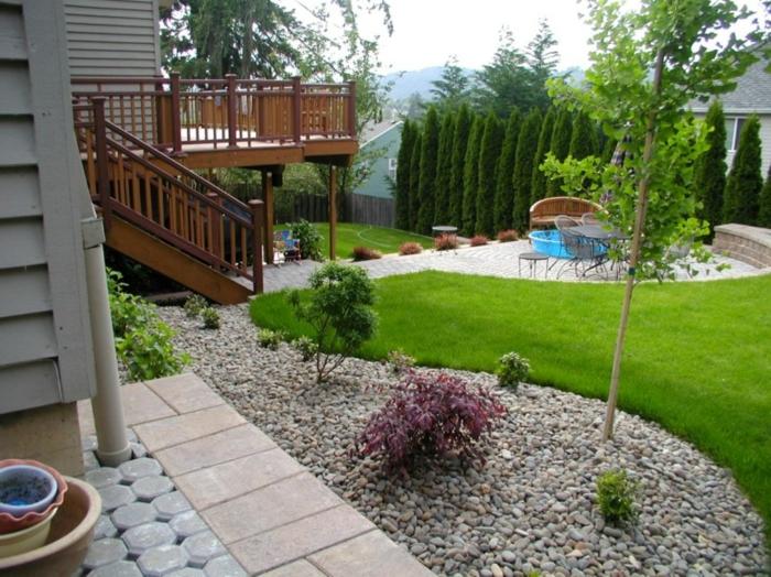 moderne-gärten-gestalten-mit-kies