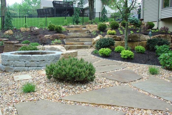moderne-gärten-mit-kies-garten-gestalten-ideen
