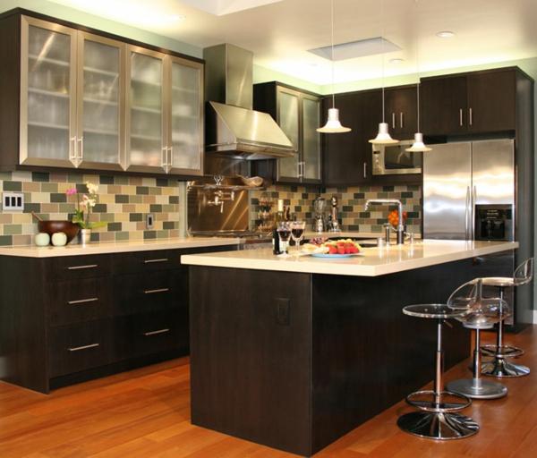 moderne-küche-gestalten- schwarz und weiß