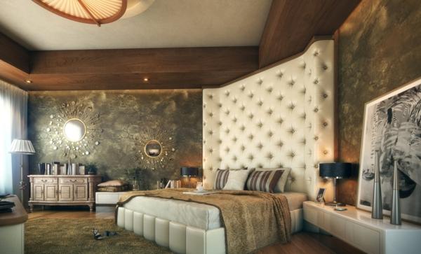 moderne-möbel-im-schlafzimmer- auffälliges kopfbrett
