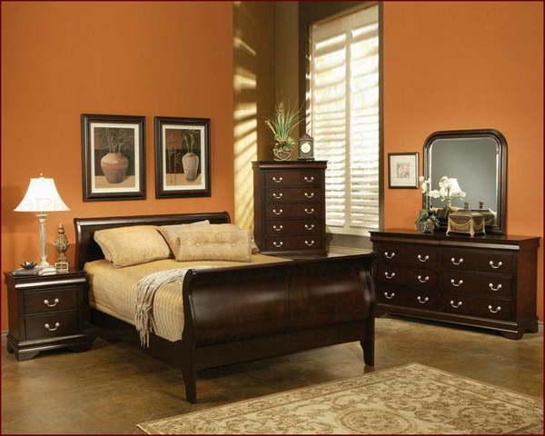 moderne-wandfarbe-fürs-schlafzimmer mit warmen farbnuancen
