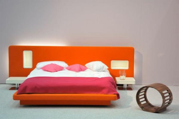 Modernes Bett Design Warme Farben  Bett