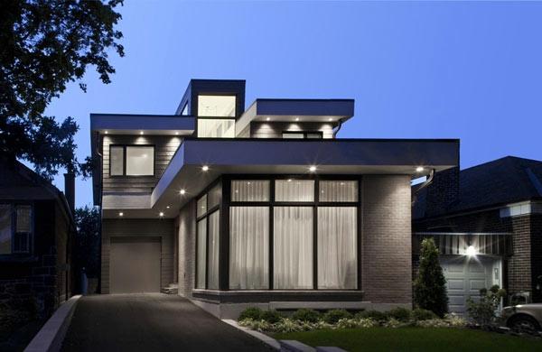 Modernes einfamilienhaus super inspirierende bilder for Modernes haus farbe