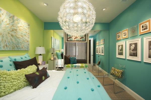 modernes-schlafrzimmer mit frischen farbschemen