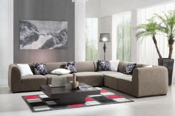 Moderne raumgestaltung 30 interessante vorschl ge - Grose wohnzimmer wandgestaltung ...
