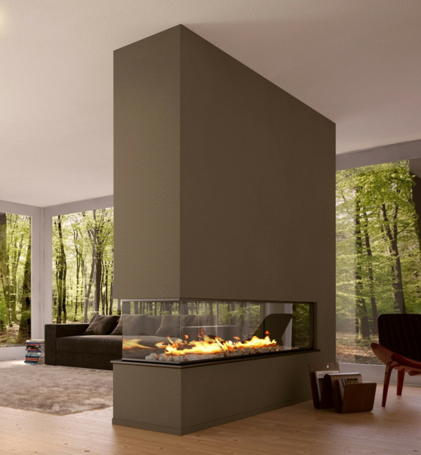 wohnzimmer mit kamin modern – Dumss.com