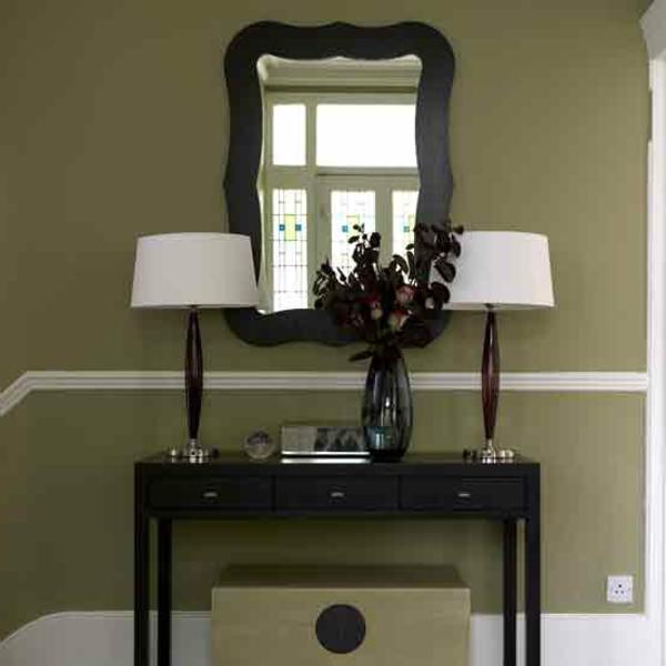 Ockra Farbe Flur Spiegel  Moderne Farbkombination Farbgestaltung ...