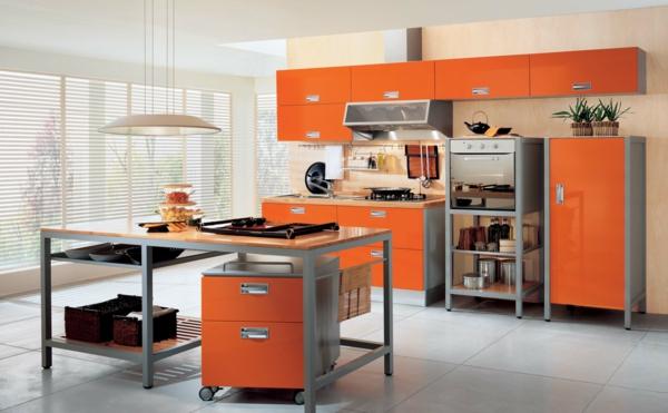 orange-küche-gestalten- super modell