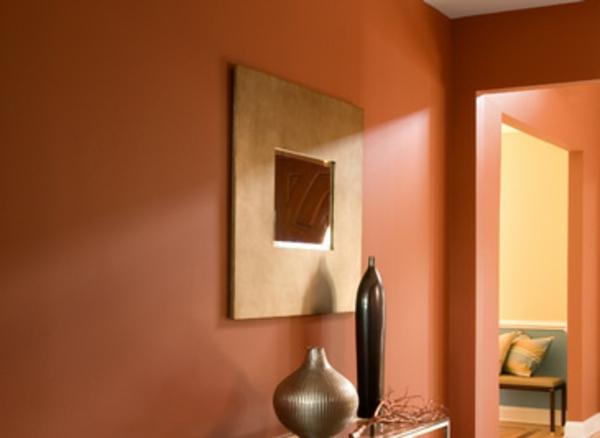 orange-wand-flurgestaltung - mit ockra kombinieren