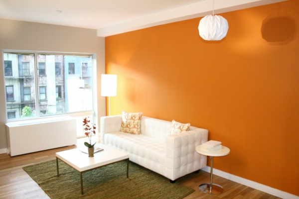 beautiful wohnzimmer einrichten orange gallery - amazing design