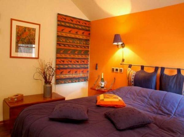 Oranges Wohnzimmer Originelles Design Mit Warmen Farben