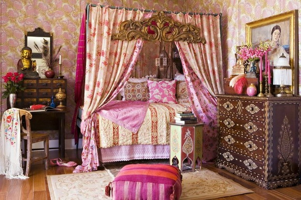 orientalisches schlafzimmer zauberhafte atmosph re. Black Bedroom Furniture Sets. Home Design Ideas