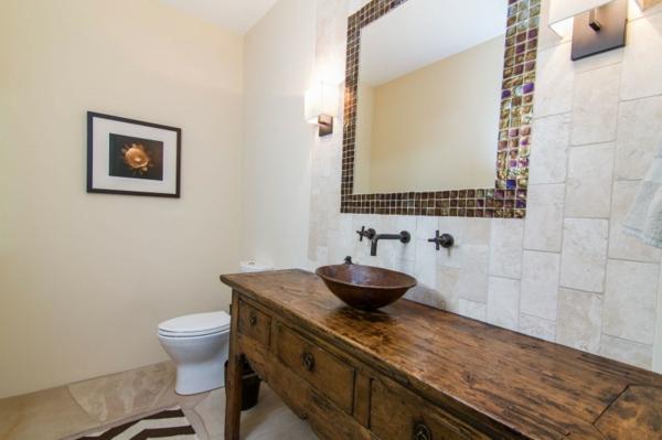 originelles-design-eines-badezimmers- holzmaterial