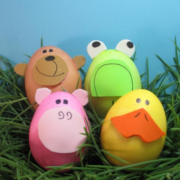 ostern deko selber machen - eier wie tiere