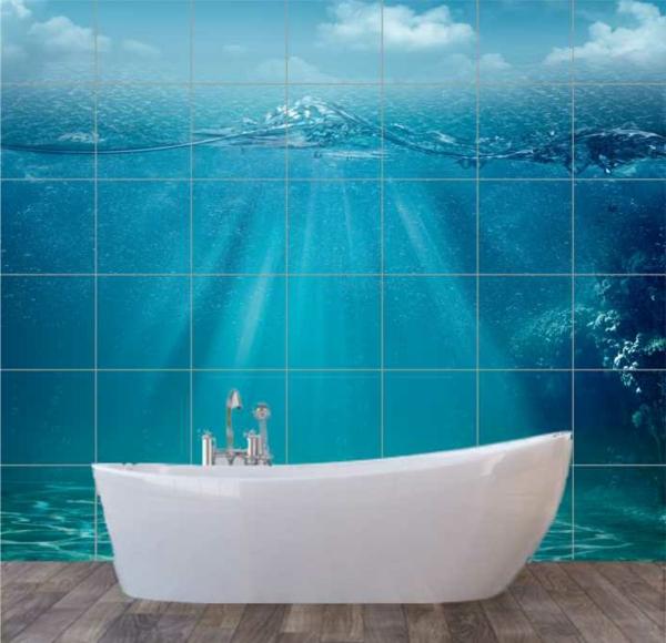 ozean_collage-im-badezimmer- badewanne