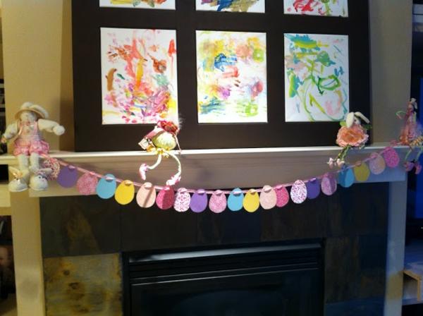 kleinkinder machen selber dekoration für ostern