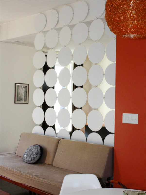 raumteilung-im-modernen-wohnzimmer- interessantes modell