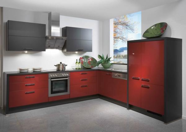 rote-küche-modern gestalten