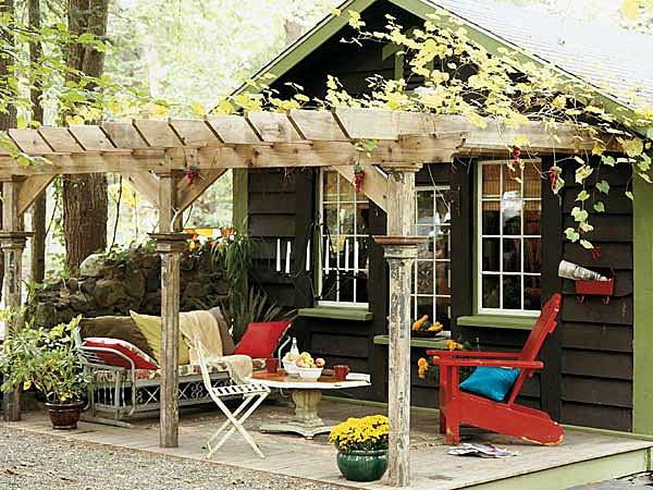 Ueberdachte Terrasse Aus Holz Im : ?berdachte terrasse wundersch?ne ideen archzine