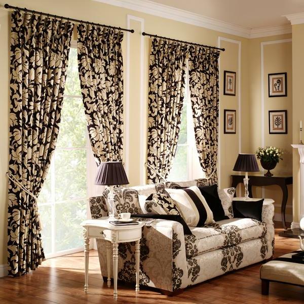 schöne-gardinen-herrenzimmer- kontrastierende farben