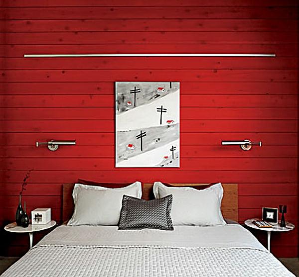 Schöne Wandfarben - 34 Auffällige Vorschläge - Archzine.net Schlafzimmer Rote Wand