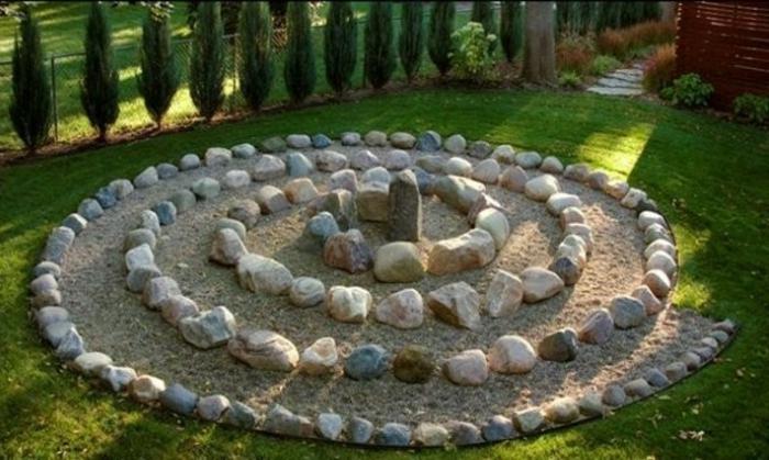 schöner-garten-ideen-mit-steinen